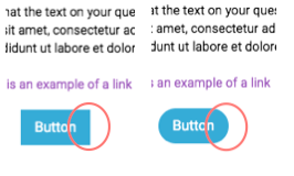 Design settings - rounded corner example