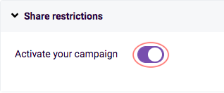 activate your campaign