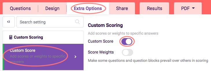 assessment features - custom scoring