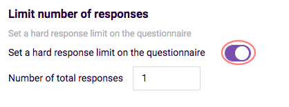 Share questionnaire - hard limit