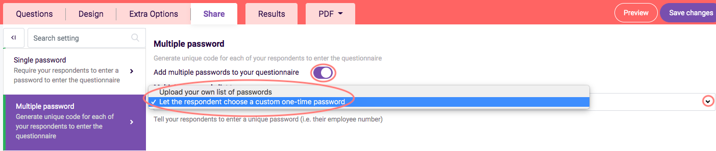 Adding Passwords- multiple password choose