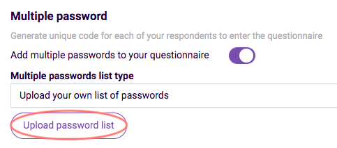 Adding Passwords-  upload your own list