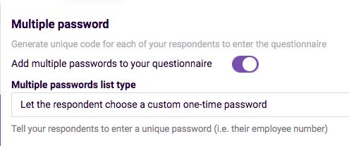 Adding Passwords- - one-time password