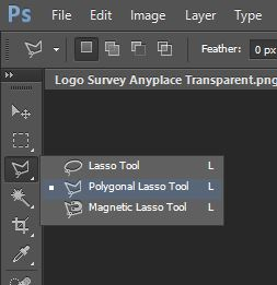Select Polygonal Lasso Tool Photoshop
