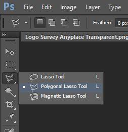 Select Polygonal Lasso Tool Photoshop