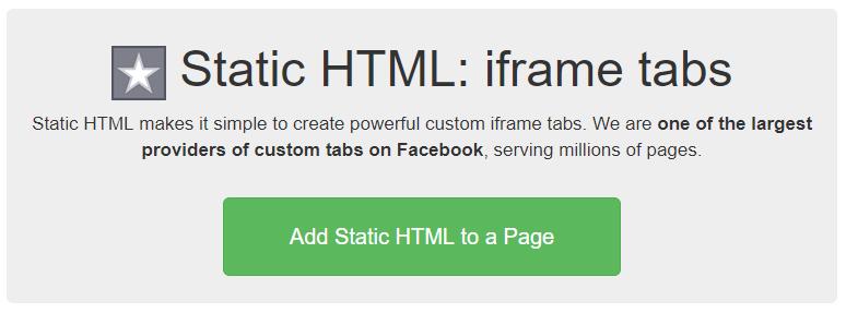 Embedding survey static facebook html