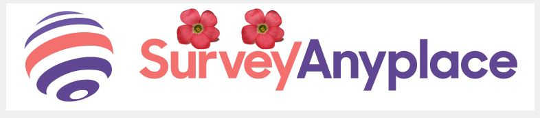 Survey Anyplace logo with 2 flowers