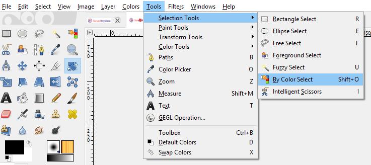 Color Select tool GIMP