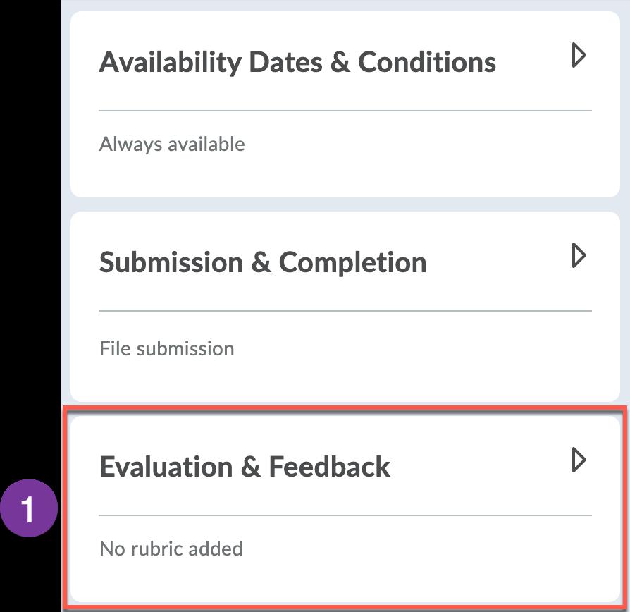 Evaluation & Feedback panel