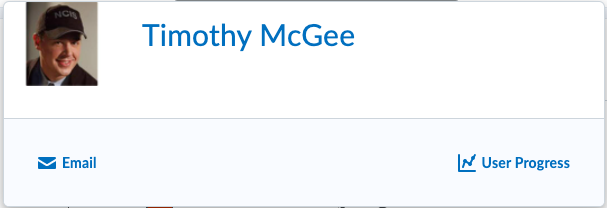 Student Timothy McGee profile card