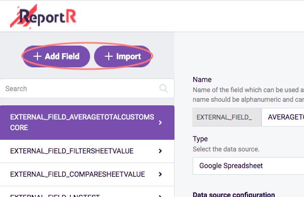add field or import field