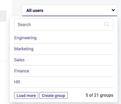 Team Management- team groups