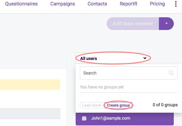 Team Management- create group