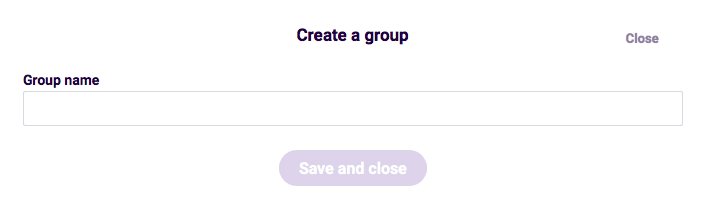 Team Management-  group name