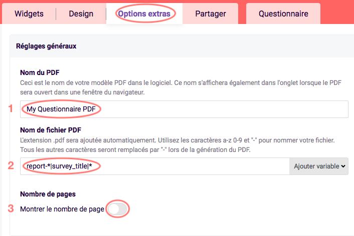 PDF - Réglages généraux