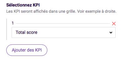 selectionnez KPI