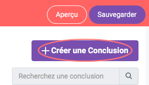 Creer une Conclusion
