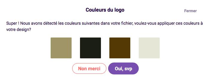 couleurs du logo