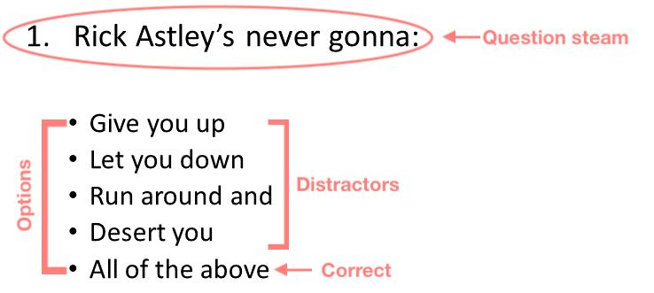 Multiple choice explanation