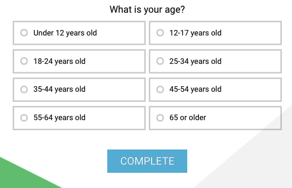 what is your age text choice example