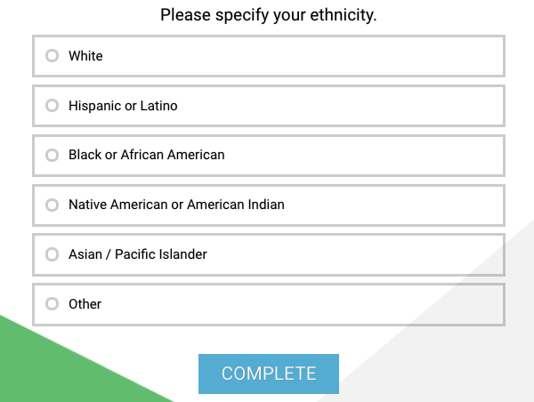 ethnicity question type example