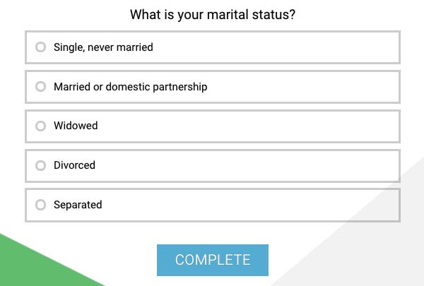marital status question type example