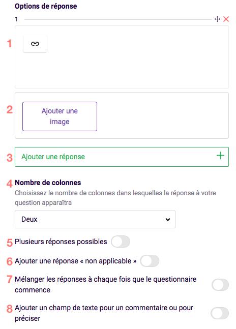Options de réponse - choix d'image