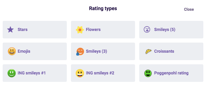 Rating types examples