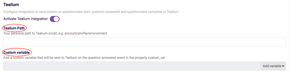 tealium integration - tealium path custom variable