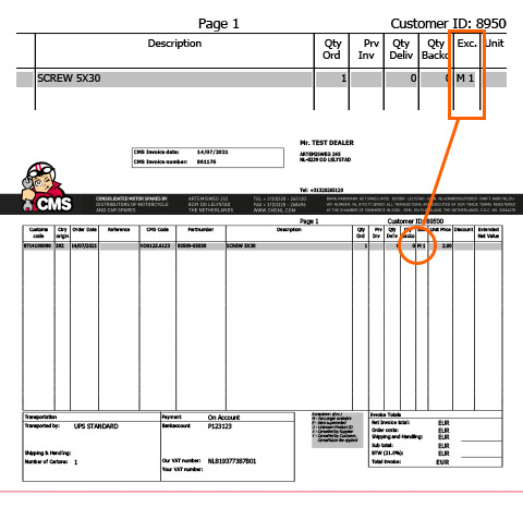 Here you can find the exception code on your invoice