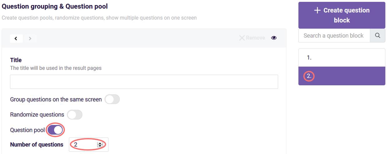 question pool