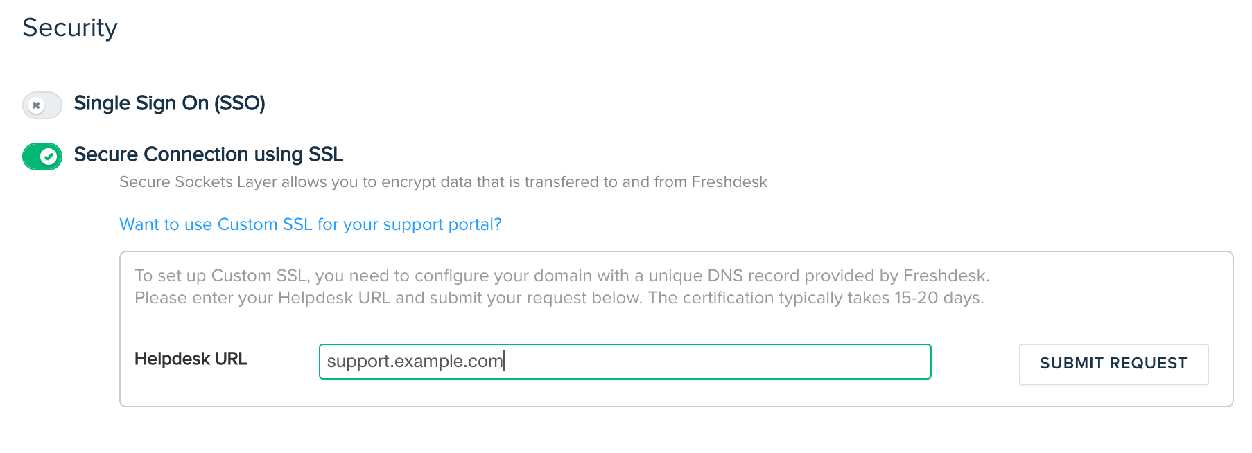 Configuring A Custom Ssl Certificate For Your Support Portal Freshdesk
