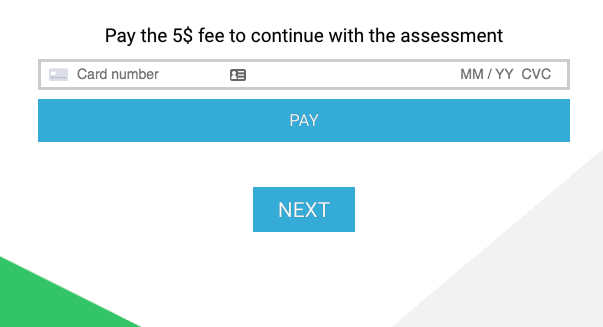 Pay to download the report- payment screen