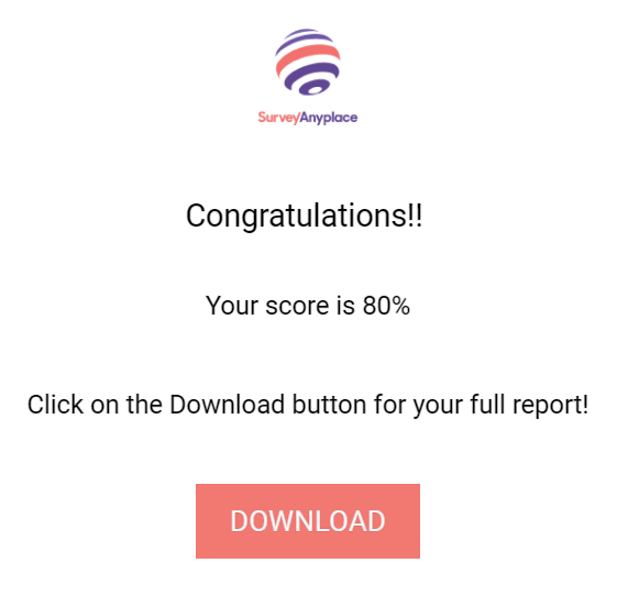 Pay to download the report- final screen