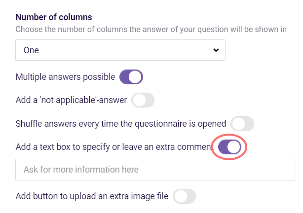 Multiple-Choice Question- ask more information