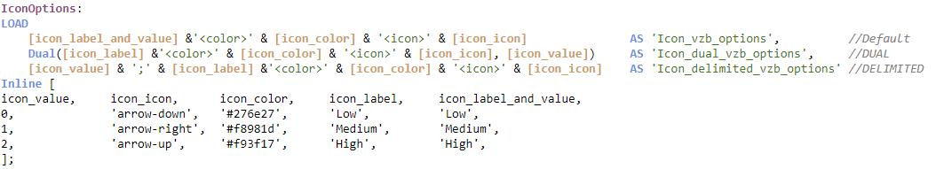 Icon example Options Field script
