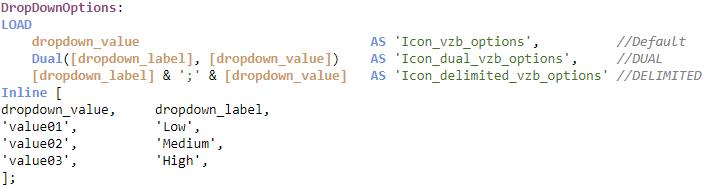 Example Options field script