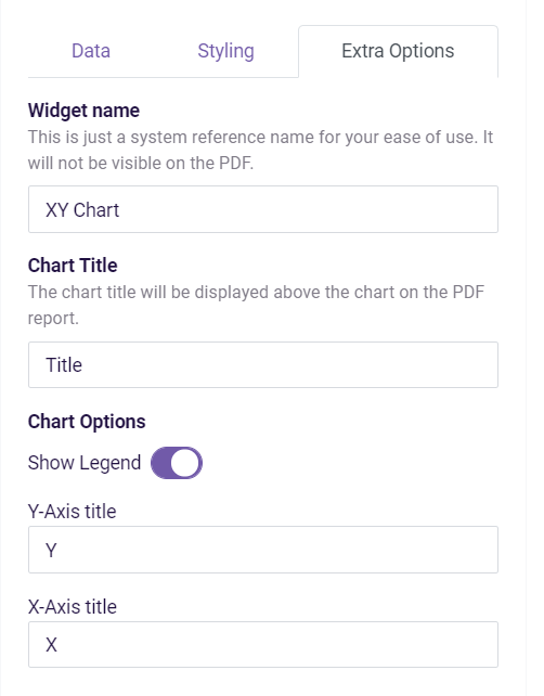 PDF: XY Chart- extra options