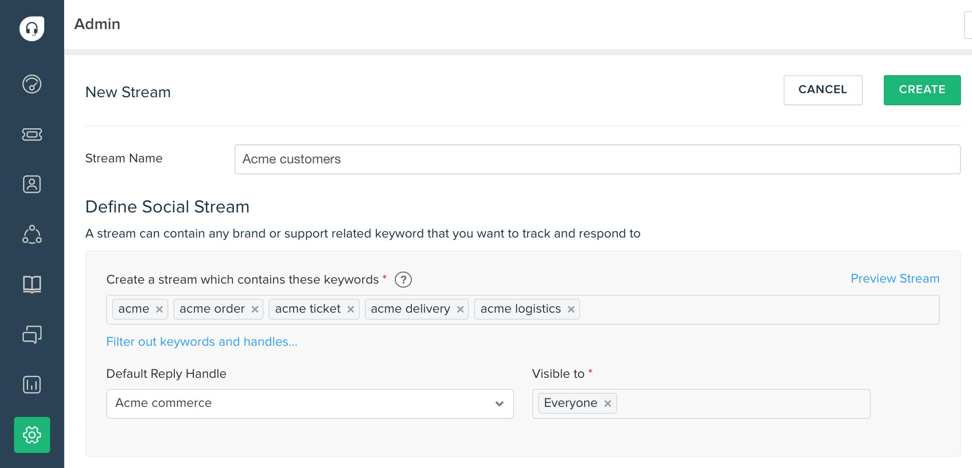 Adding a customized Twitter stream to your Freshdesk : Freshdesk