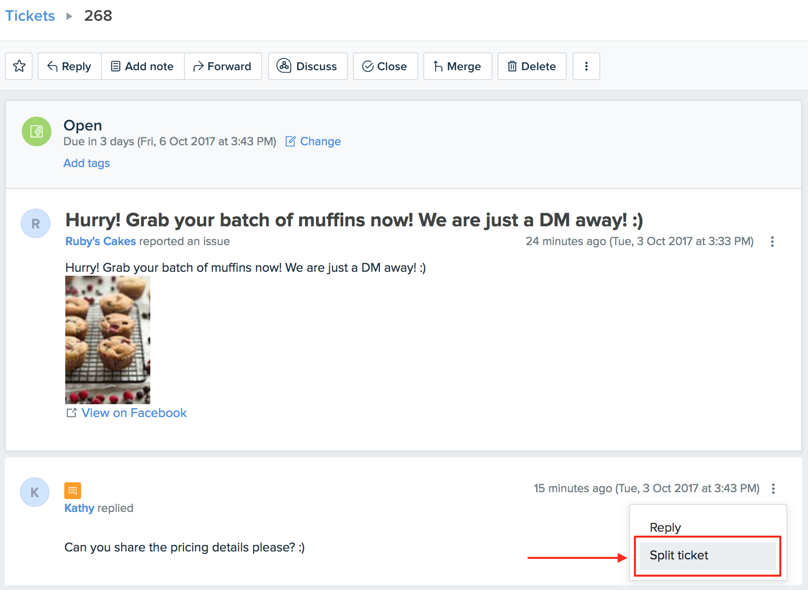 Replying to Facebook posts from Freshdesk : Freshdesk