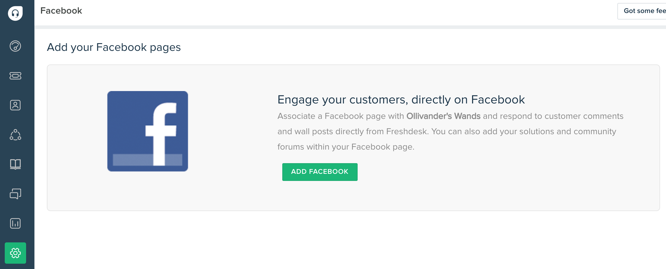 How to integrate Freshdesk with your Facebook brand page : Freshdesk