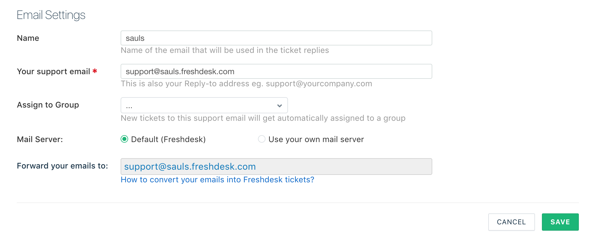 Converting Support Emails into tickets in your support portal