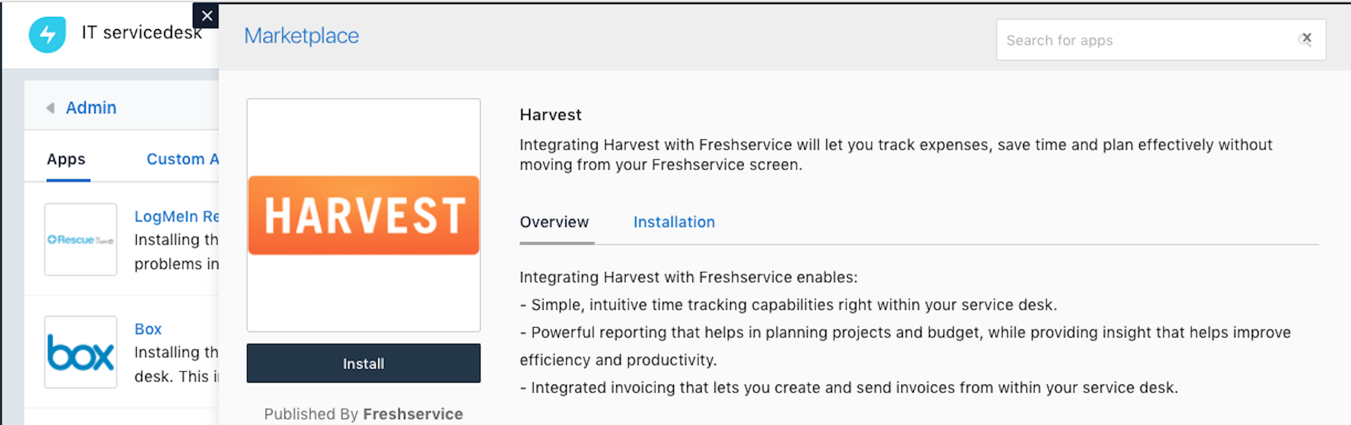 Integrate Your Service Desk With Harvest Invoicing Solution - Harvest invoice software