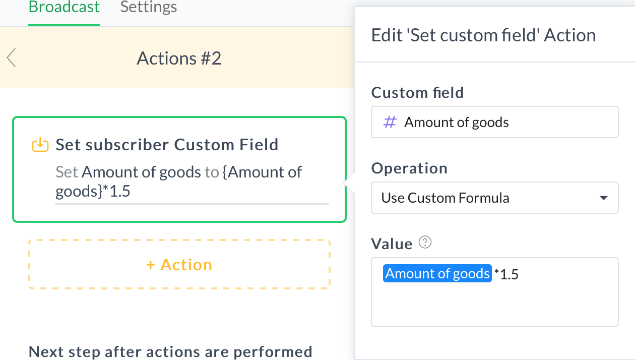 User Input and Custom Fields : ManyChat