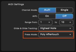 ROLI Dashboard for RISE Press Mode