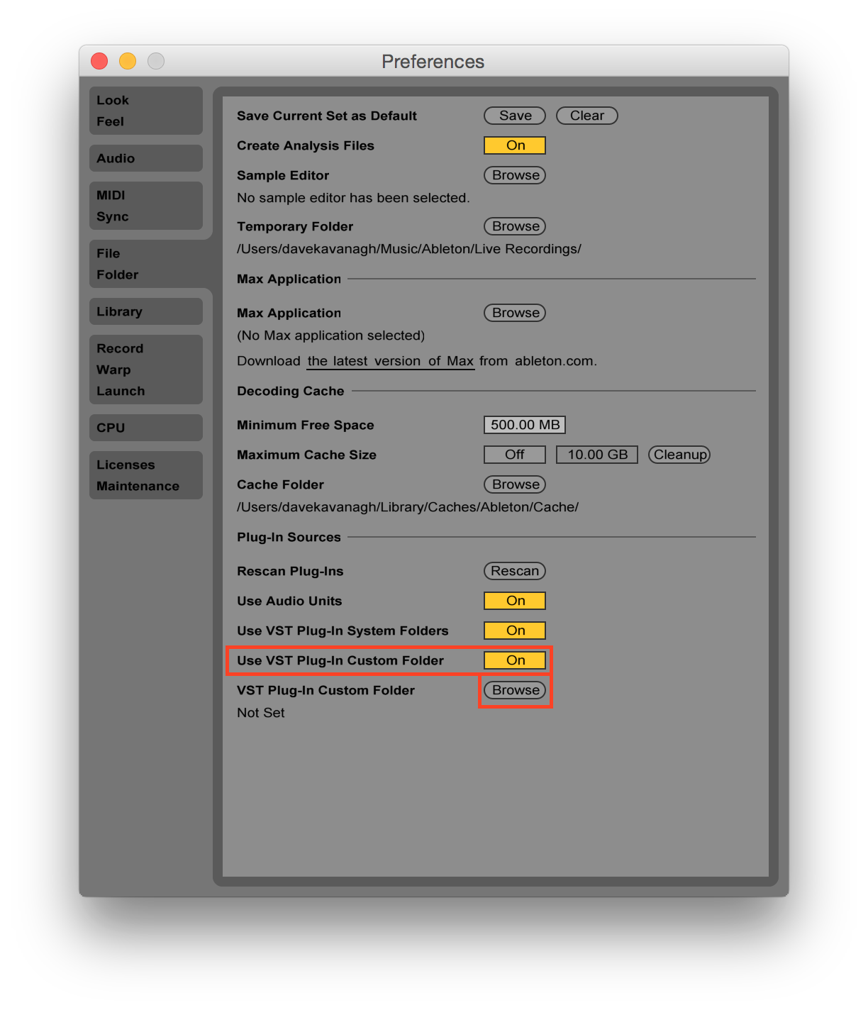 Ableton-VST-plugin-custom-folder-highlight