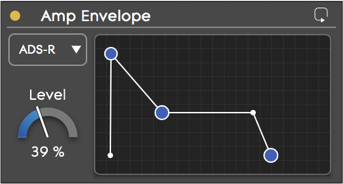 Amp env curve view