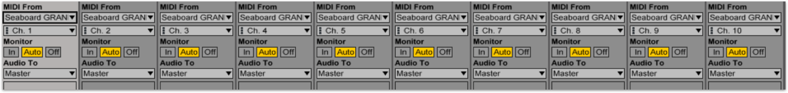 Ableton Live 10 tracks built-in instruments