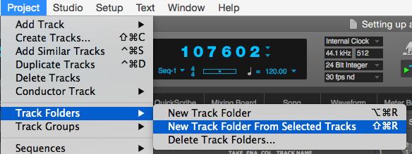 DP9 New Track folder
