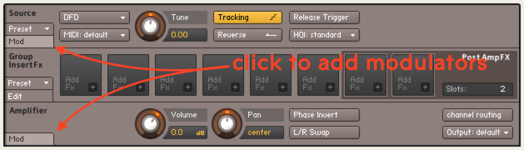 Kontakt click to add modulators